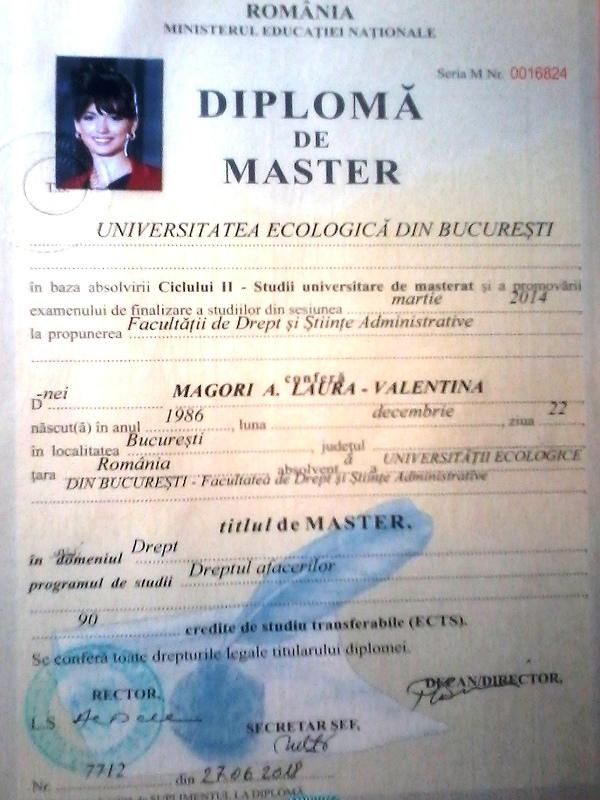 Laura Valentina Magori Craiovan -Masterat in Dreptul Afacerilor